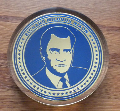 Richard Nixon paperweight