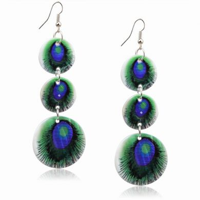 Peacock Dangle Earrings